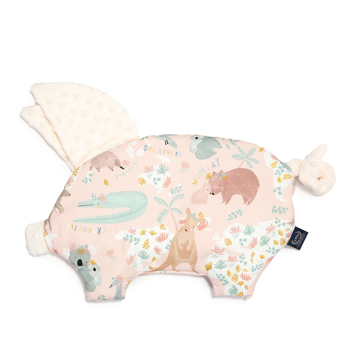 SLEEPY PIG baby pillow - Dundee & Friends Pink | Ecru