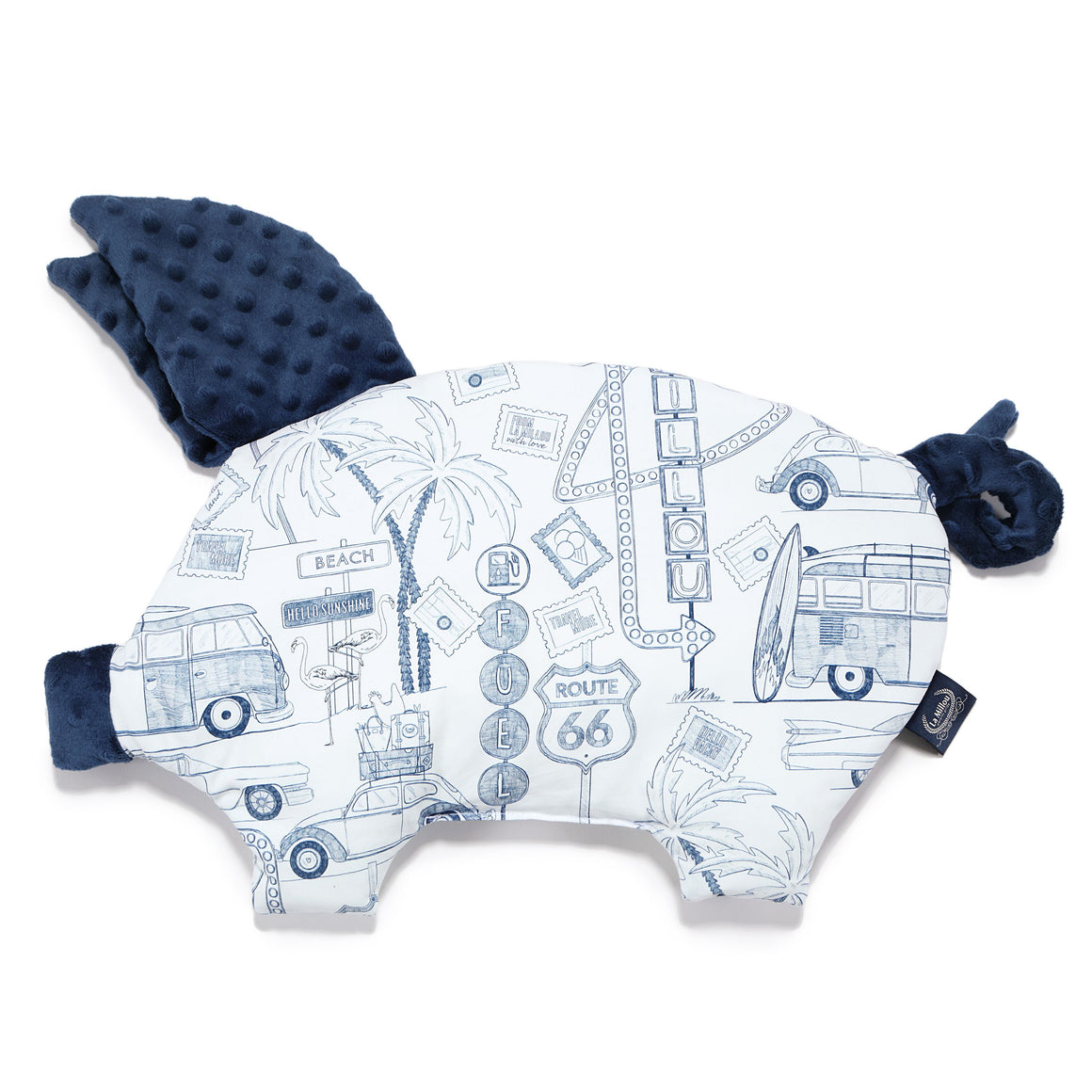 SLEEPY PIG baby pillow - Route 66 | Navy