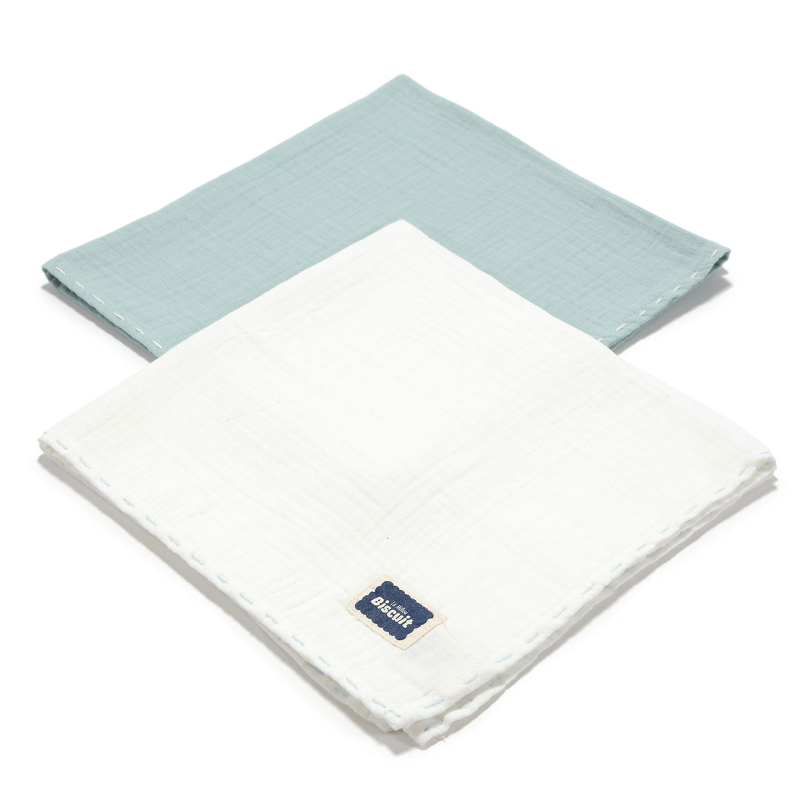 MUSLIN SWADDLE (2-PACK) 100% cotton - MINT & OFF WHITE