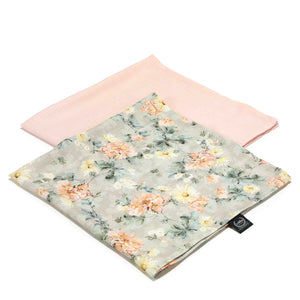 MUSLIN SWADDLE (2-pack) 100% bamboo - Blooming Boutique & Powder Pink