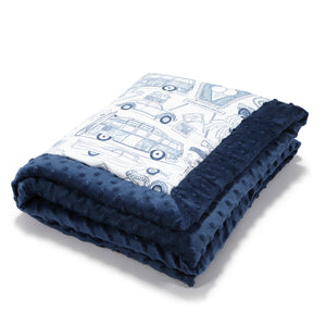 NEWBORN BLANKET - Route 66 | Navy