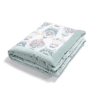 NEWBORN BLANKET - Cappadocia Dream | Velvet Smoke Mint