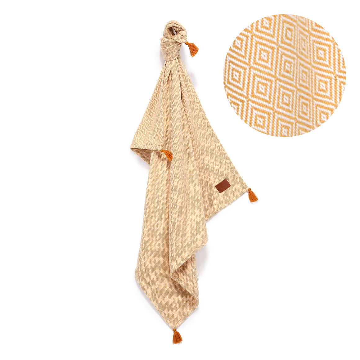 COTTON LIGHT TENDER ETHNIC BLANKET ohut viltti - HONEY