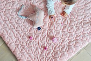 MEDIUM BLANKET peitto 80x100 cm - Wild Blossom | Velvet Powder Pink