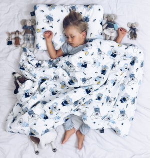 BEDDING WITH FILLING 2in1 vuodevaatesetti (koko L) - Icy Seal Blue