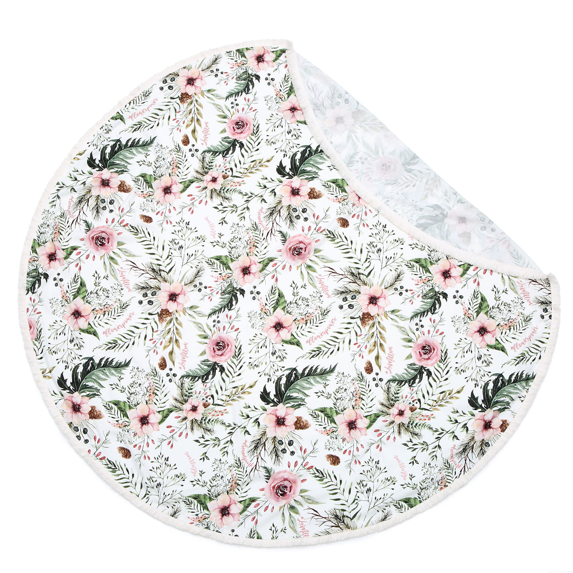 BAMBOO ROUND SWADDLE KING SIZE light summer blanket | Wild Blossom