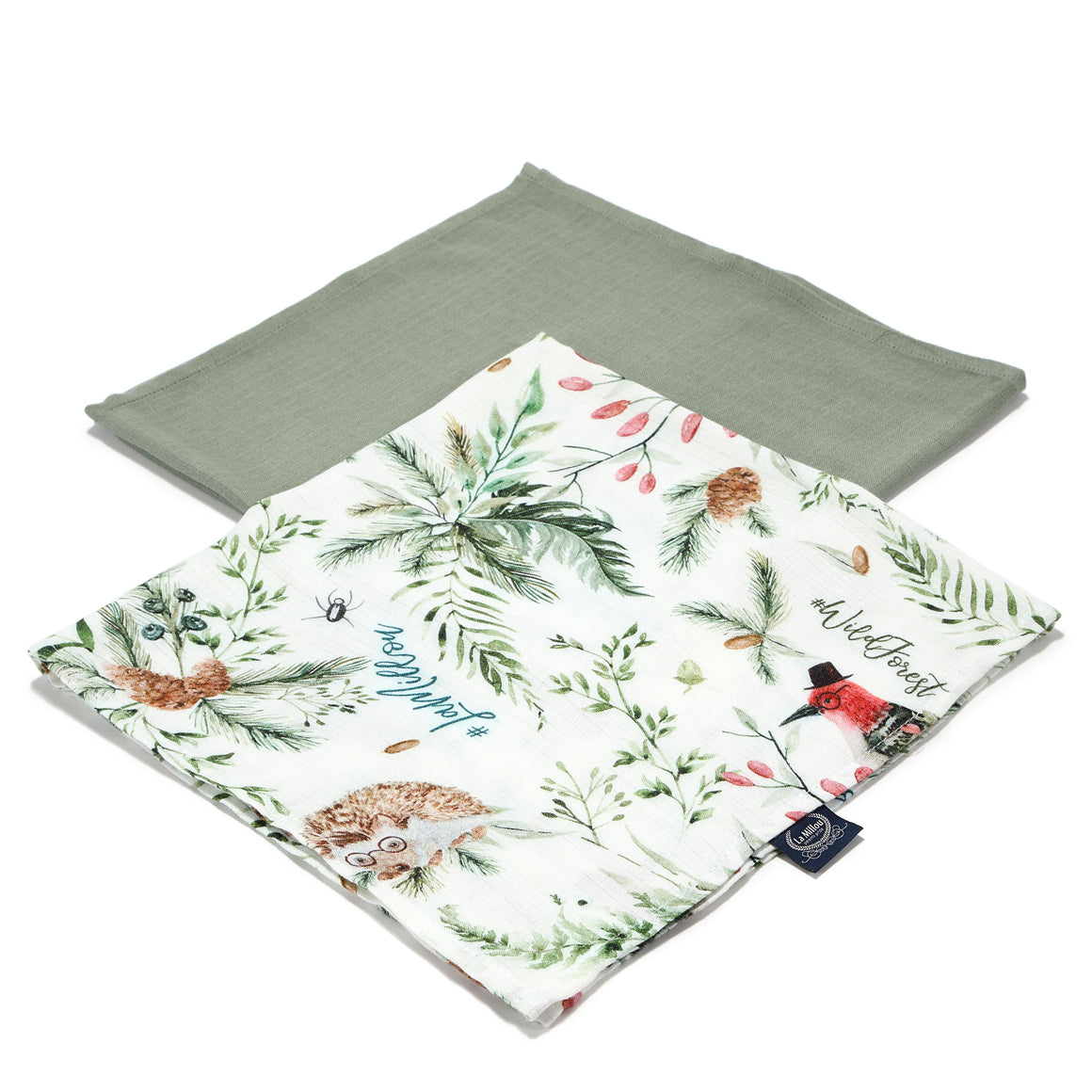 MUSLIN SWADDLE (2-pack) 100% bamboo - Forest & Khaki