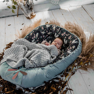 BABY NEST unipesä - Fairytale Land | Velvet Powder Pink