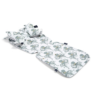 STROLLER PAD Istuinpehmuste - Sea Beauties| Velvet Dark Grey