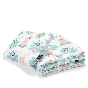 BEDDING WITH FILLING 2in1 vuodevaatesetti (koko M) - Yoga Candy Sloths & Yoga Candy Leaves