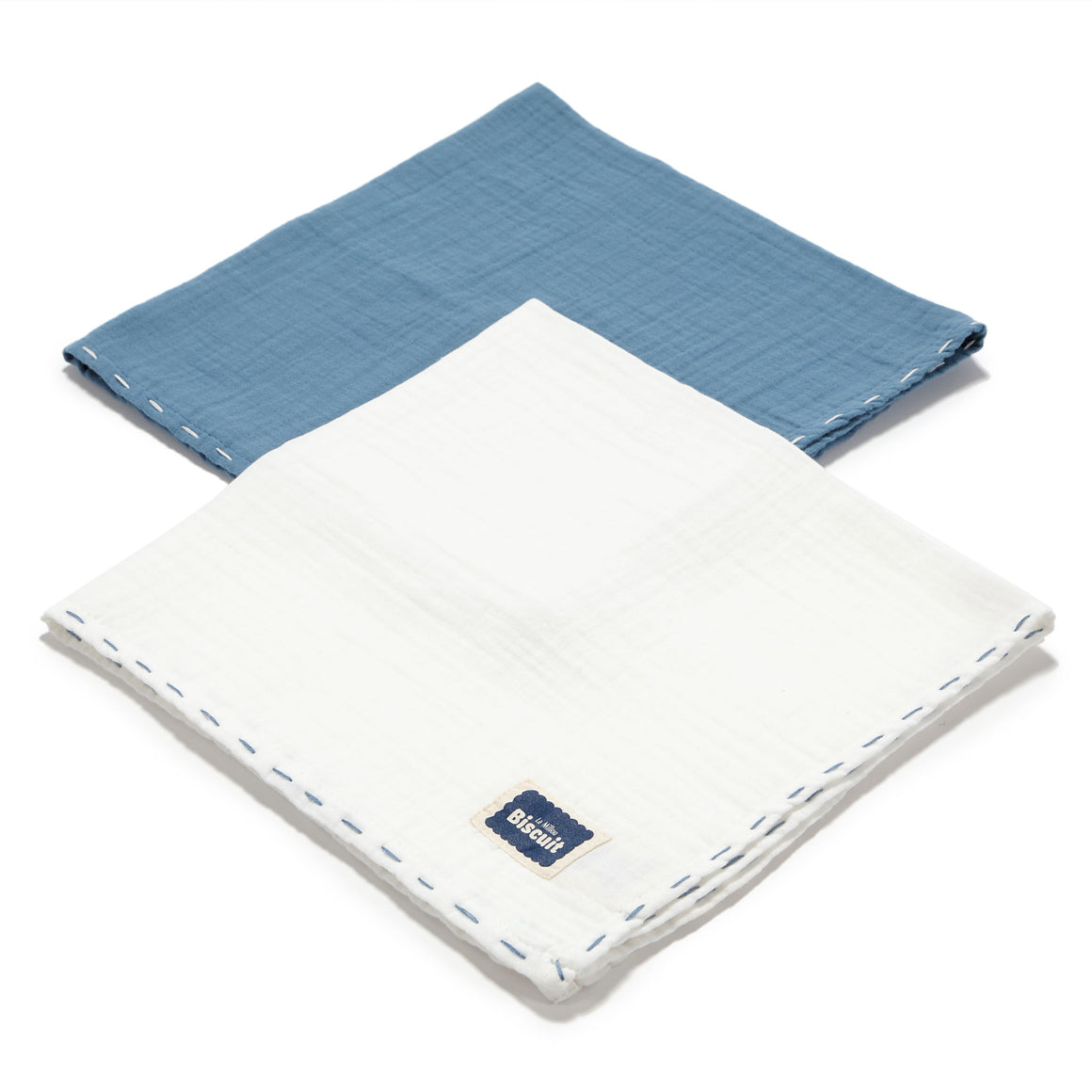 MUSLIN SWADDLE (2-PACK) 100% puuvillaharsot - NAVY & OFF WHITE