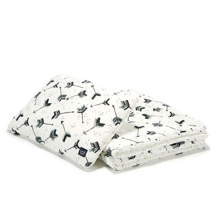 "BEDDING WITH FILLING 2in1 (toddler ""L"" size) - Boho Royal Arrows"