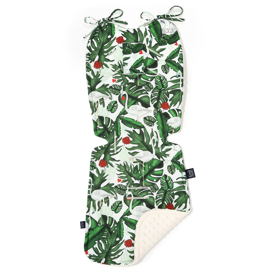THICK STROLLER PAD - Evergreen Tiger | Ecru