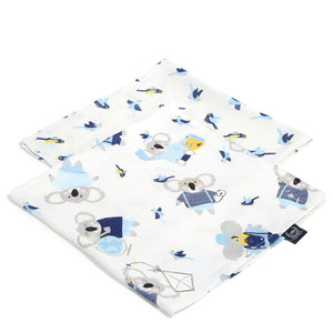 MUSLIN SWADDLE (2-pack) 100% BAMBOO cloth diapers - Hello World & Hello World Birds