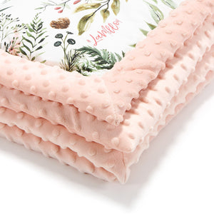 NEWBORN BLANKET peitto - Wild Blossom | Powder Pink