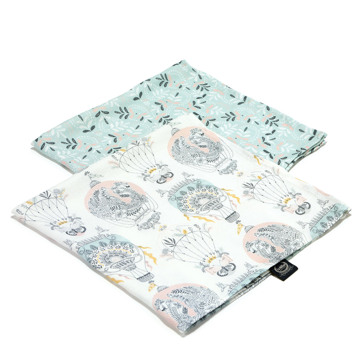 MUSLIN SWADDLE (2-pack) 100% BAMBOO cloth diapers - Cappadocia Dream