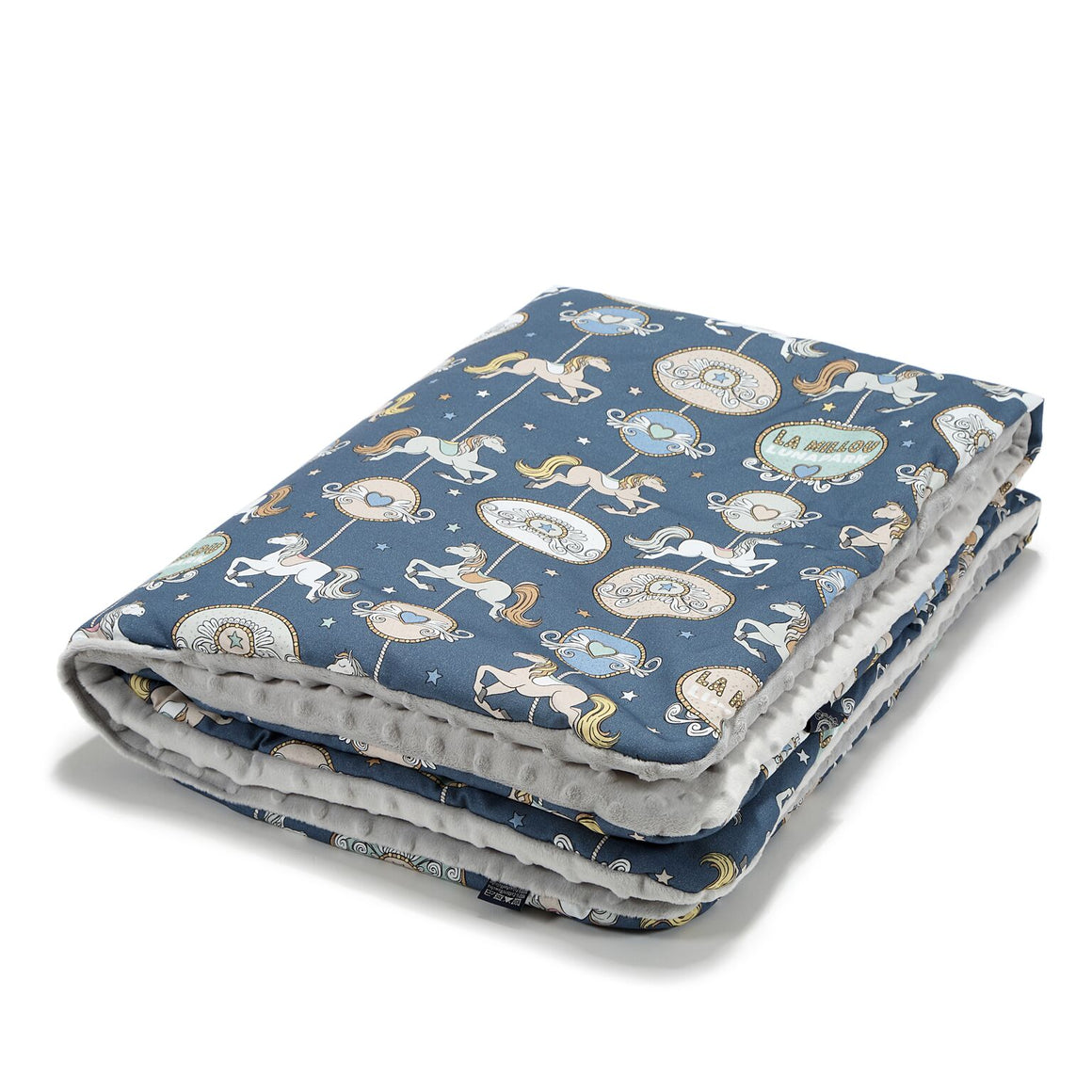 MEDIUM BLANKET peitto - Lunapark By Night | Light Grey
