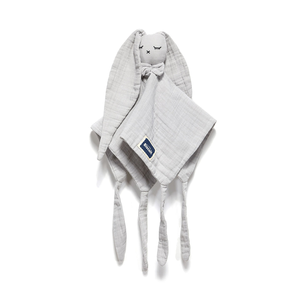 DOUDOU RABBIT 100 % COTTON MUSLIN uniriepu - STONE