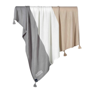 BAMBOO TENDER BLANKET neulepeitto - Toffee