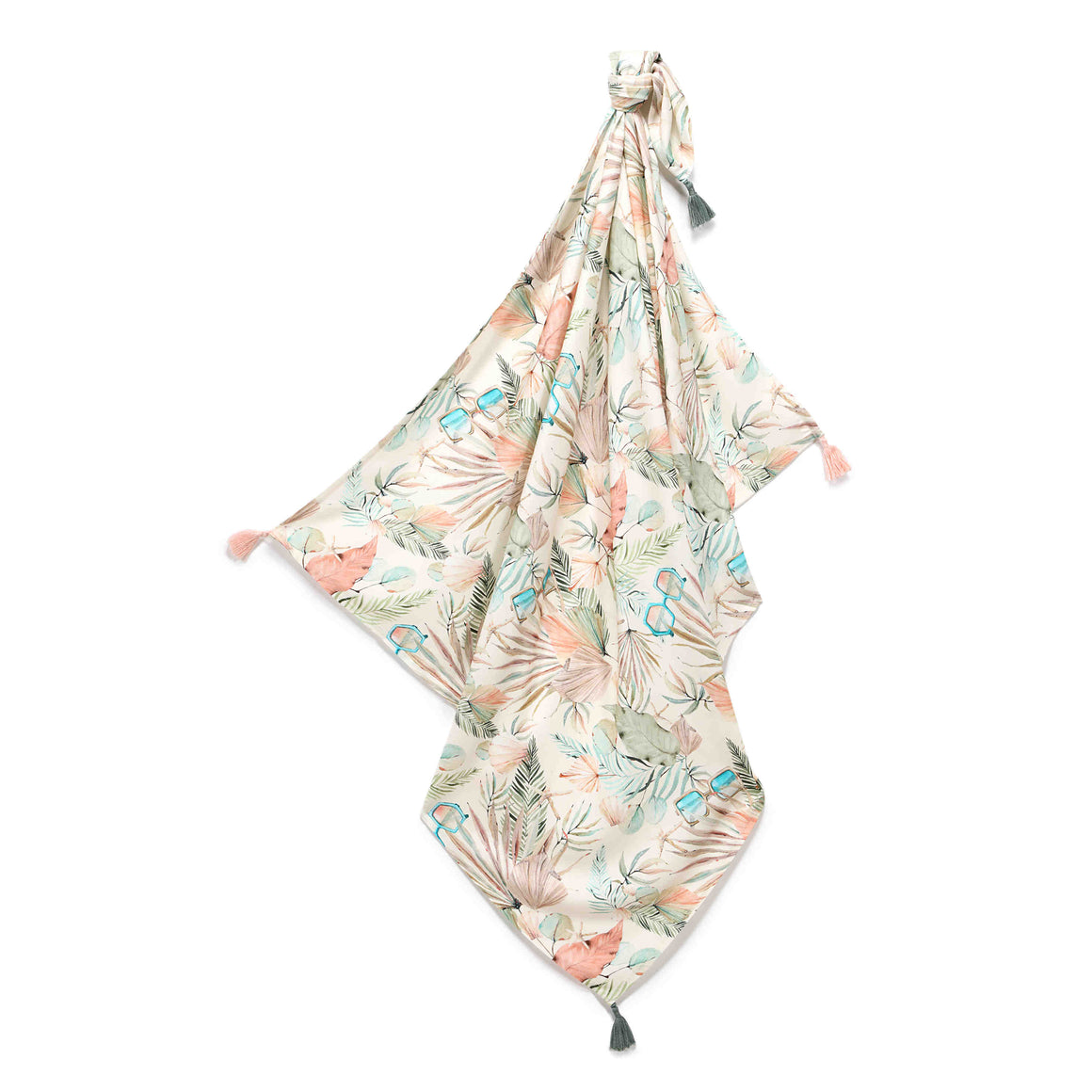 BAMBOO SWADDLE FRINGE light summer blanket - Boho Girl