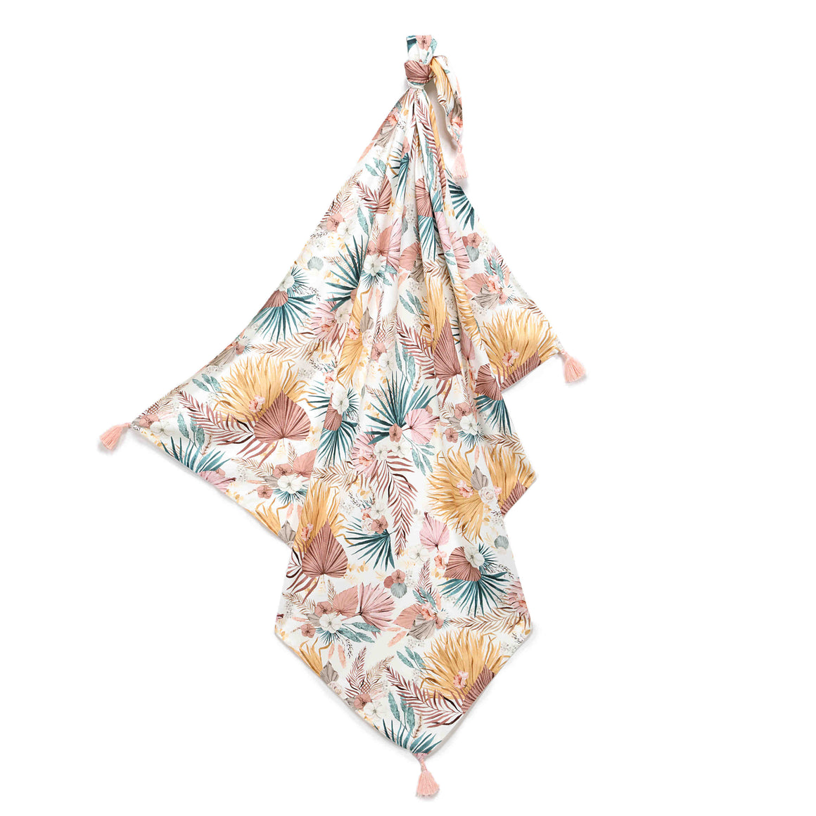BAMBOO SWADDLE BLANKET kapalo/kevyt peitto - Boho Palms Light