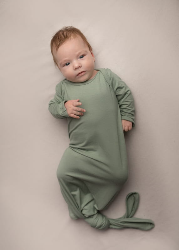 NANAF ORGANIC Bamboo Knotted Sleeping Bag (0-6 months) - Mint