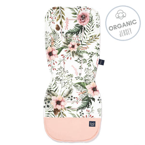 THICK STROLLER PAD ORGANIC JERSEY - Blooming Boutique | Powder Pink