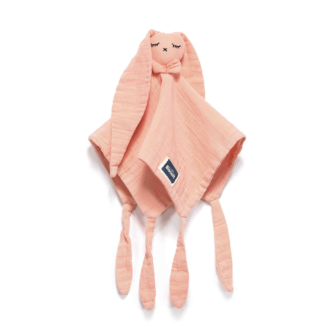 DOUDOU RABBIT 100 % COTTON MUSLIN uniriepu - Papaya