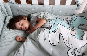 BEDDING WITH FILLING 2in1 vuodevaatesetti (koko L) - Unicorn Rainbow Knight