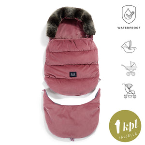 ASPEN WINTERPROOF STROLLER BAG modular footmuff 3in1 - Velvet Mulberry