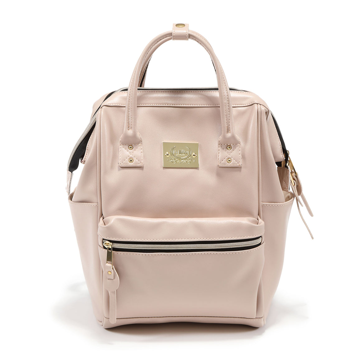 light pink nursery backpack
