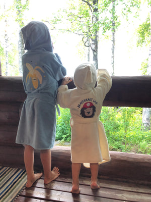 BATHROBE BAMBOO SOFT bambu kylpytakki - Braveheart Lion | Cream (Kid)