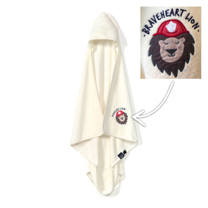 TOWEL  BAMBOO SOFT - Braveheart Lion | Cream (Baby)
