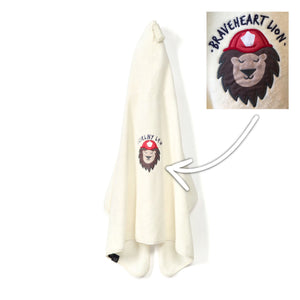TOWEL BAMBOO SOFT bambu pyyhe - Braveheart Lion | Cream (Kid)