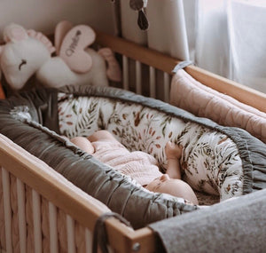 BABY NEST unipesä - Boho Royal Arrows | Velvet Dark Grey
