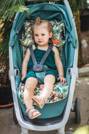 STROLLER PAD Istuinpehmuste - Hello World | Velvet Royal Navy