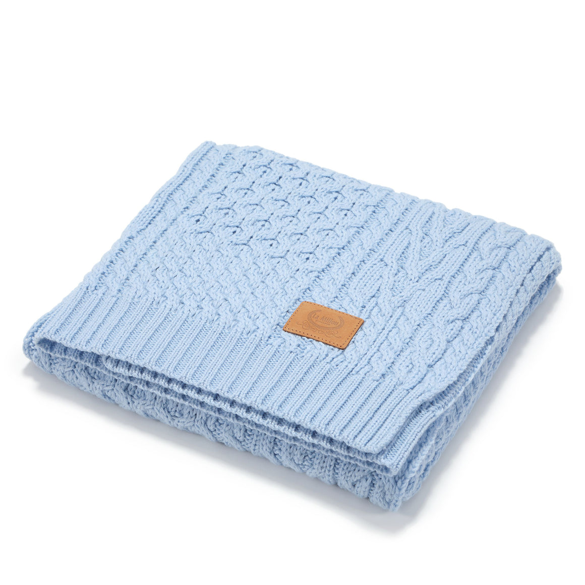 MERINO WOOL TENDER BLANKET - ICE BLUE