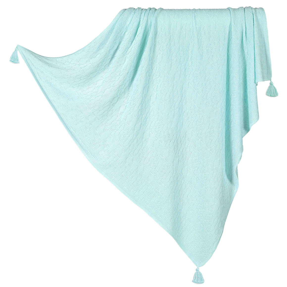 BAMBOO TENDER BLANKET neulepeitto - Fresh Mint