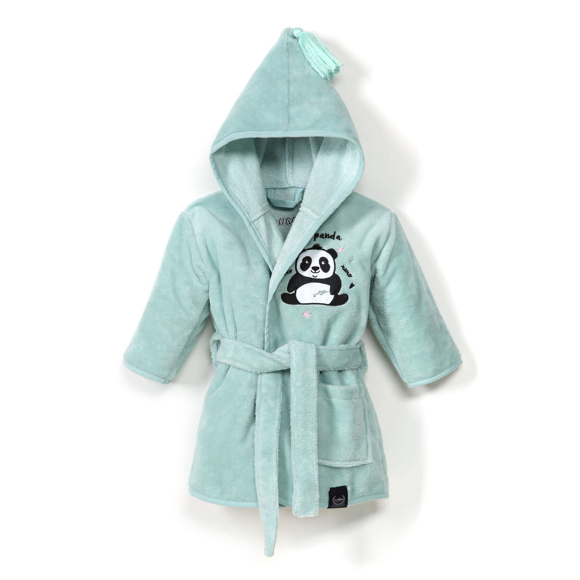 BATHROBE BAMBOO SOFT - #ilovepanda | Mint (Baby)