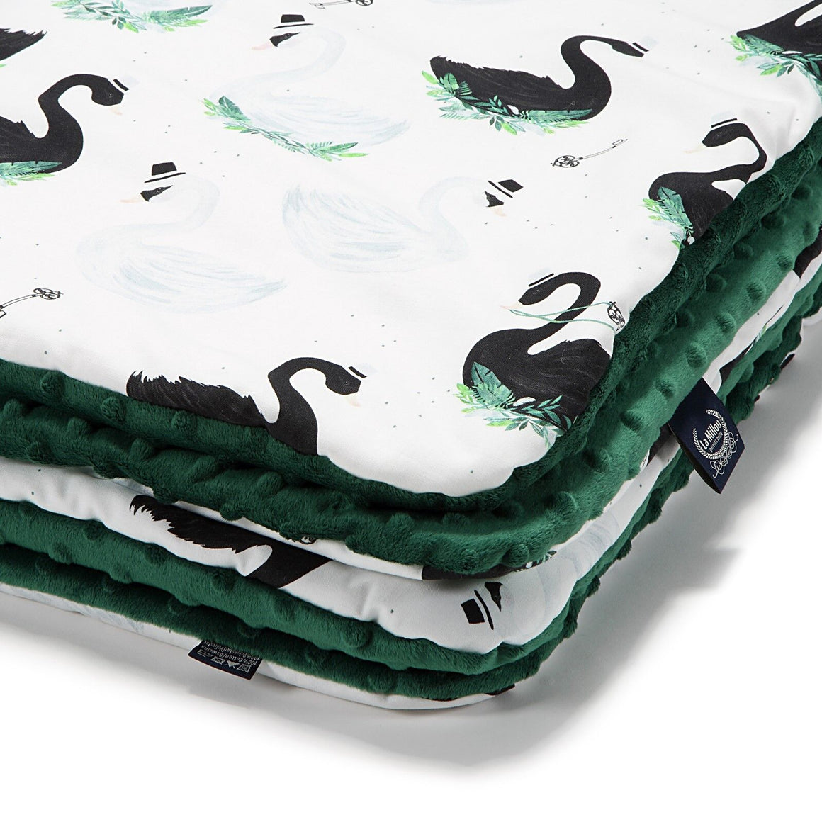 MEDIUM BLANKET - Jungle Swan | Bottle Green