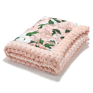 NEWBORN BLANKET - Lady Peony | Powder Pink