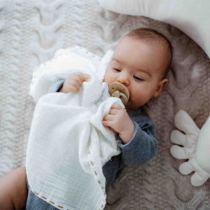 MUSLIN SWADDLE (2-PACK) 100% puuvillaharsot - MINT & OFF WHITE