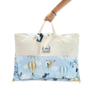 BEDDING WITH FILLING 2in1 vuodevaatesetti (koko L) - Moonlight Swan
