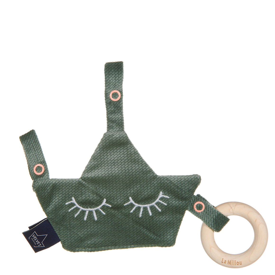 COMBO PACIER ecological teether - Velvet Khaki