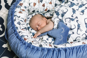 BABY CROWN helistin - Velvet Harvard Blue