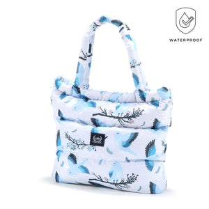 ASPEN WINTERPROOF SHOPPER BAG - Blue Birds