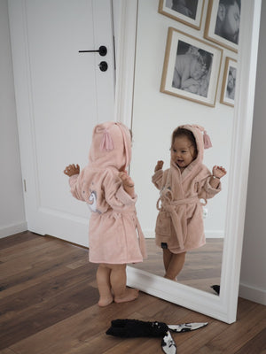 BATHROBE BAMBOO SOFT bambu kylpytakki - Unicorn Sugar Babe | Powder Pink (Baby)