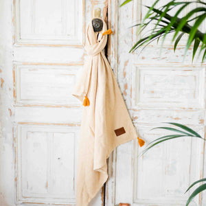 TENDER COTTON ETHNIC BLANKET - HONEY