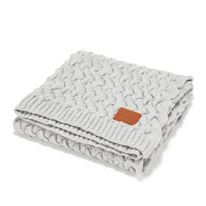 MERINO WOOL TENDER BLANKET - Platinum