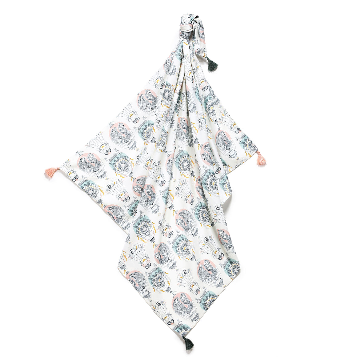 very light cooling summer bamboo blanket and swaddle for babies and children